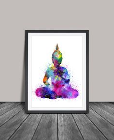 #sapphiresoul Buddha Wall Art, Buddha Painting , Yoga Print, Watercolor Buddha Art Print, Buddha Wall Art Print Yoga Poster ,Buddha Poster(33) by FineArtCenter on Etsy https://www.etsy.com/listing/231860210/buddha-wall-art-buddha-painting-yoga
