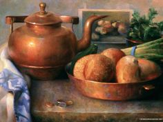 Juliette Aristides Realicstic Paintings - The Kitchen - Juliette Aristides Still Life Paintings 8 Juliette Aristides, Farm Life, Home Art, Still Life, Art Photography, Portrait, Wallpaper, Vintage, Charcoal Drawings