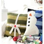 gift pillow and snowman pillow knit simple