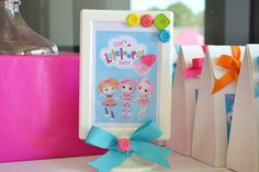 Cute Frame Idea for a Lalaloopsy Birthday Party via Hostess with the Mostess®