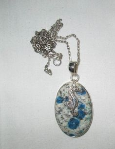 NECKLACE  SEAHORSE   Blue AZURITE   925  Sterling by MOONCHILD111 https://www.etsy.com/shop/MOONCHILD111