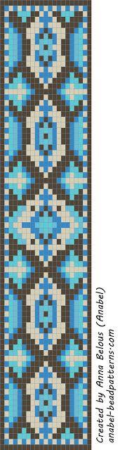 Схема браслета - станочное ткачество / гобеленовое плетение   - Схемы для бисероплетения / Free bead patterns -