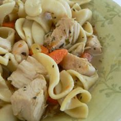 Ingredients: 1 tablespoon butter 1/2 cup chopped onion 1/2 cup chopped celery 4 (14.5 ounce) cans chicken broth 1 (14.5 ounce) can vegetable broth 1/2 pound chopped cooked chicken breast 1 1/2 cups...