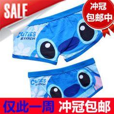 Male panties panty trigonometric classic super man lovers panties lovers underwear cartoon panties 100% cotton shorts