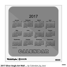 2017 Silver Angle Art Wall Calendar by Janz Wall Graphic