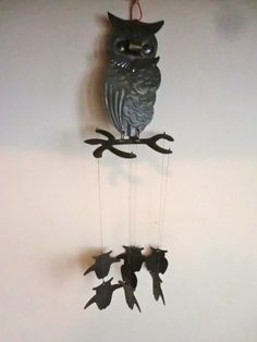 Cute as can be Owl Wind Chime. $22.00, via Etsy.