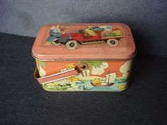 Antique Tin Box Easter Basket   priced 119.99