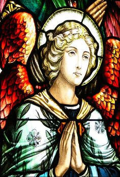 Angel - Stained Glass.. #StainedGlassTattoo