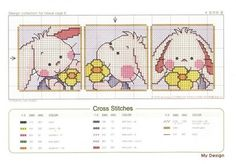 Cross-stitch Happy Bunny Bookmarker ... Conejito