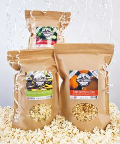 Brothers Rudi and Aaron Sinykin's snacks are made with purpose Popcorn Favors, Local Products, Kettle Corn, Snack Recipes, Snacks, Purpose, Chips, Lime, Pumpkin