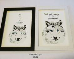 Kunstdruck Wolf frei,wild,wunderbar- Fine Art  von ღKreawusel-Designღ auf DaWanda.com