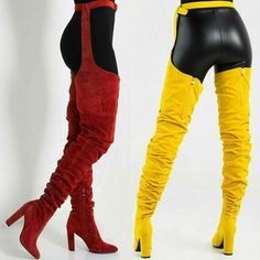 509134a4a3c Side View Run Up On You Thigh High Boots in Orange