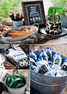 Printable Party S'more Favor Gift Tags - Duck Dynasty Collection