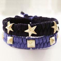 Fabriquer un bracelet en suédine clouté