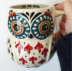 Morning Coffee in the Natural Life Owl Mug on sale at Altar'd State