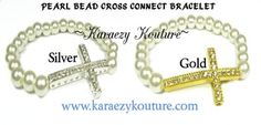 PEARL BEAD CROSS CONNECT BRACELETS ARE A STEAL UNDER 4 BUCKS IN THE WEB STORE AT KARAEZY KOUTURE!