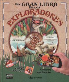 """César Samaniego. """"El gran libro de los exploradores"""". Editorial Parramón. (desde 9 años). Cursed Child Book, Harry Potter, Baseball Cards, Children, Books, Editorial, Haunted Castles, Open Book, Book Worms"""
