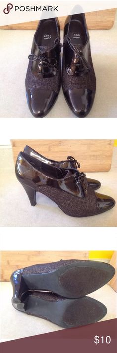 Impo Tabby Synthetic Lace/Zip Up Heels,Size 11M These shoes 👠 our in great condition.Lace up/Zip up style.Synthetic leather.Heels out about 3 inches high.Great for work or a fancy event.Size 11M in women's. impo Shoes Ankle Boots & Booties