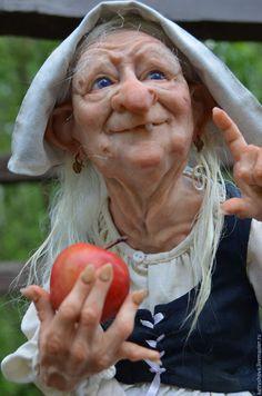 f npc Halfling Farmer portrait village lg Ooak Dolls, Art Dolls, Marionette Puppet, Halloween Doll, Halloween Witches, Bizarre, Polymer Clay Dolls, Paperclay, Sculpture Clay