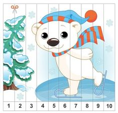 Christmas Activities For Kids, Book Activities, Kids Christmas, Preschool Activities, Polar Animals, Number Puzzles, Games For Toddlers, Busy Book, Activity Centers