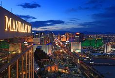 The article accompanying this image notes the best strip views in Vegas.  I can attest, getting up to the top of the Mandalay Bay, either to the Foundation Room or The Mix is definitely breathtaking.