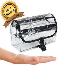 New Vinyl Clear Travel Bag Cosmetic Carry Case Toiletry Brand Free Shipping Set #Kingsley