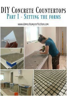 DIY concrete countertops, part 1 - prepping the forms, links to following steps too