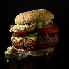 SAVEUR add 1 egg yolk per pound of beef, add salt one hour before grilling.