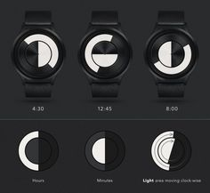 There is no room for grey-areas in ZIIIRO Lunar's provocative 50/50 watch face. Moving in clock-wise direction, the light half moon consumes the watch face with time to come, while the dark si…