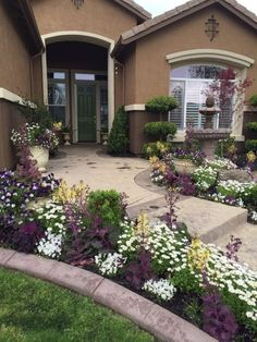 Developing your front yard or yard. The look of a garden is vital, viewing as it is the first impression others have of your home. Give your house a front-yard facelift with a landscape style Front Yard Garden Design, Small Front Yard Landscaping, Farmhouse Landscaping, Backyard Landscaping, Backyard Ideas, Corner Landscaping, Small Front Yards, Backyard Privacy, Modern Backyard