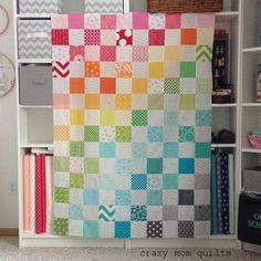 rainbow quilt top | crazy mom quilts | Bloglovin'