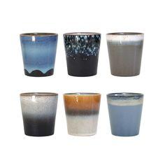 Ceramic Cups 70s Style