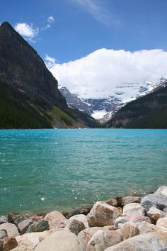 Lake Louise, Banff, Canada  I had a friend go here for high school graduation and the pictures were incredible! Looks like my ideal mountain paradise!