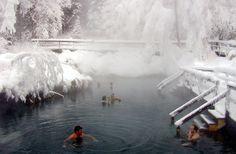 Swim in a hot spring.