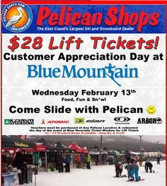 Come Play with Pelican @ Blue Mtn