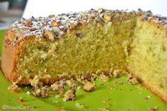 Torta al pistacchio Flan, Pistachio Recipes, Torte Cake, Almond Cakes, Something Sweet, Biscotti, Cake Cookies, Nutella, Banana Bread