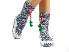 Hey, I found this really awesome Etsy listing at https://www.etsy.com/listing/206102773/christmas-cable-knit-socks-house-booties