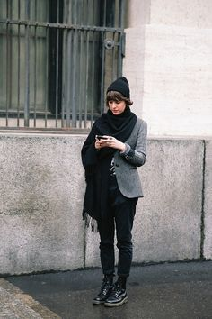 Add a blazer and beanie for the right tomboy touch.