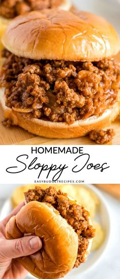 Homemade Sloppy Joes is a classic dinner recipe that simply . - Homemade Sloppy Joes is a classic dinner recipe that& easy to prepare and economical too! Homemade Sloppy Joe Recipe, Homemade Sloppy Joes, Sloppy Joes Recipe, Easy Sloppy Joes, Classic Sloppy Joe Recipe, Meat Recipes, Dinner Recipes, Cooking Recipes, Lasagna Recipes