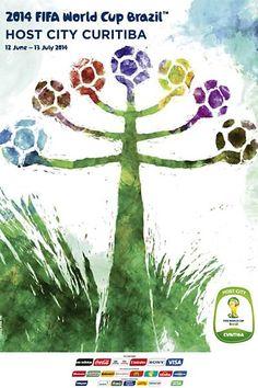 CURITIBA FIFA World Cup 2014 FIFA | Poster | Criatives | Blog Design, Inspirações, Tutoriais, Web Design