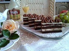 Likérové rezy (fotorecept) - Recept Hungarian Recipes, Tiramisu, Waffles, Xmas, Pudding, Treats, Cookies, Breakfast, Cake