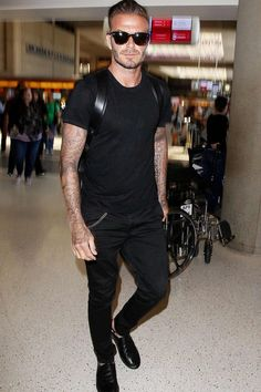 David Beckham shows you how to wear all black everything - GQ.co.uk