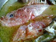GREEK FISH SOUP Greek Fish, Fish Soup, Greek Recipes, Soups, Food And Drink, Meat, Inspired, Diy, Do It Yourself