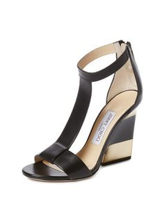 315d8ffaab6698 Jimmy Choo Maxy T-Strap Platform Wedge Sandal Leather Wedge Sandals