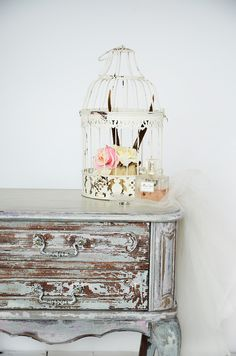 bedside table - chippy - shabby chic - rustic - wood