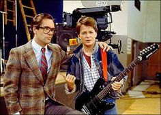 You're just too damn loud. Marty McFly and Huey Lewis.