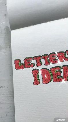 Bullet Journal Notes, Bullet Journal Lettering Ideas, Bullet Journal Aesthetic, Bullet Journal Writing, Bullet Journal Ideas Pages, Bullet Journal Inspiration, Hand Lettering Art, Hand Lettering Tutorial, Cool Lettering