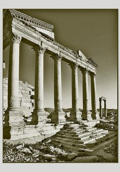 Syria - Palmyra :The Temple of the Standards, at Diocletian's Camp. by alberto laurenzi, via 500px