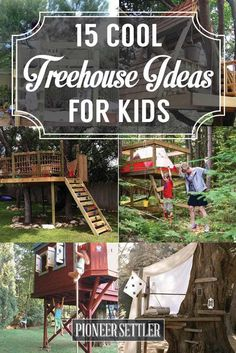 Treehouse Ideas | Amazing DIY Backyard Playhouse for Kids, check it out at http://pioneersettler.com/treehouse-ideas/