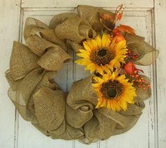 Burlap & Sunflowers Wreath